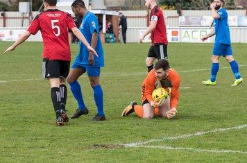 James Bradbrook smothers another Borough attack