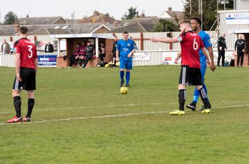 Goerge Moore lines up a free kick...
