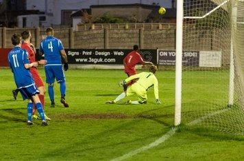 Mitchell Ware saves Charles Banya's shot