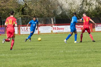 Shaun Preddie brings the ball out of defence