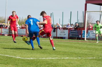...but Callum Sturgess gets his toe on the ball