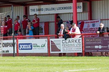 The Borough fans look more relaxed