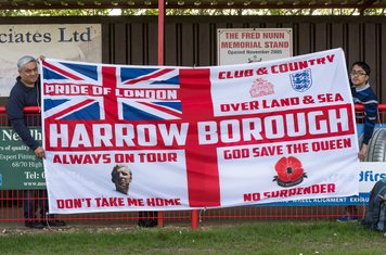 An even bigger Borough flag is on display