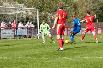 ...and brings a good save out of Danny Gay