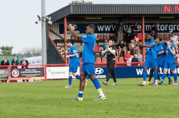 ...and the players applaud the supporters