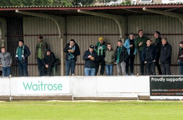 The Burgess Hill fans gather on a crucial day for relegation issues