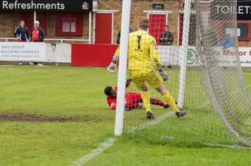 ...and Kurtis Cumberbatch is inches away from scoring a 4th