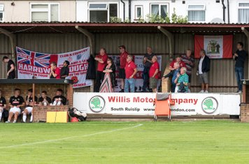 ...and the Borough supporters swivel in anticipation