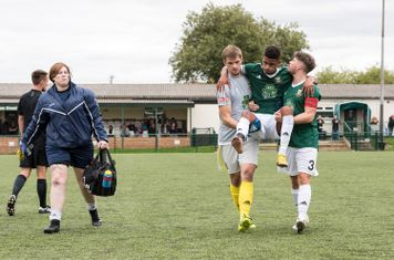 ...and forces Cole Brown to leave the pitch