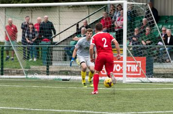 George Moore is through on goal...