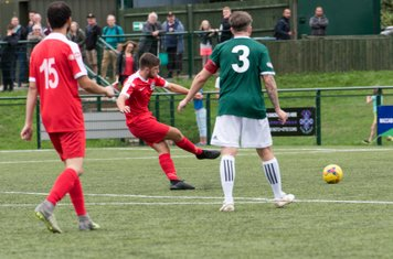 ...and Harry Rush is on hand to score Borough's 4th goal