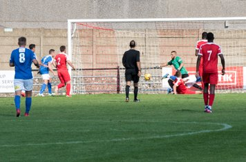 Borough defenders are kept at full stretch, but the score remains 0 - 0 at half time