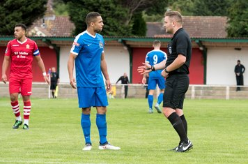 Some of the referee's decisions upset the Borough players and supporters