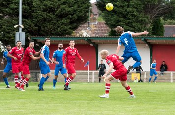 Mitchal Gough gets forward in search of an equaliser