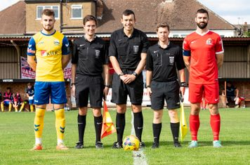 Mr Creswick and his Assistants and Captains Tony Lee and Ryan Moss
