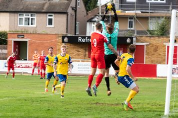...and a confident display by Patrick O'Flaherty frustrates Borough's efforts