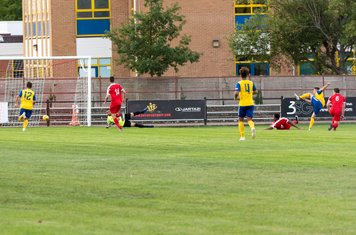 Ryan Pennery scores the crucial goal for Gosport...