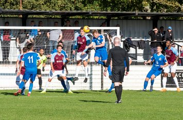 ...but also have to defend as Chesham start the second half strongly