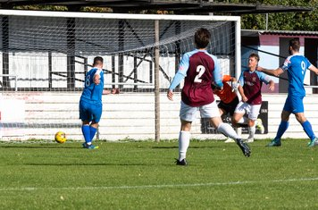 ...and eventually is able to tuck the ball away for his second goal