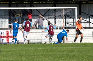 After considerable Chesham pressure, Dylan Kearney puts Borough ahead in the 13th minute