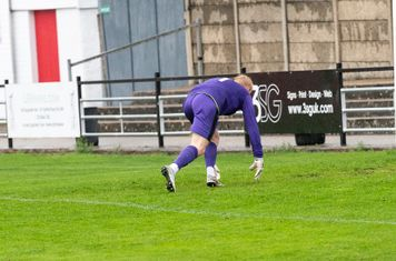 Anthony O'Connor shoots past Adam Desbois for the equaliser, late goals being his speciality in his last 3 matches