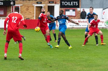 Bayley Brown, Ryan Moss and Anthony O'Connor battle for an equaliser
