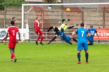 Phew! An escape for Harrow as Michael Campbell shoots over from point blank range
