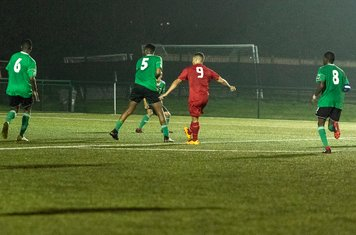 Anthony O'Connor shoots from the edge of the area...
