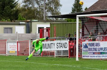 ...brings a fine save from James Carey