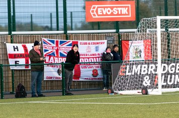 ...and, after an excellent first half, the Borough fans are deflated