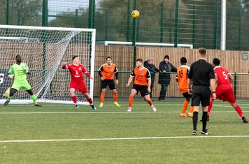 The substitutes help Borough out as Excellence Muhemba's shot deflects towards Dylan Kearney...
