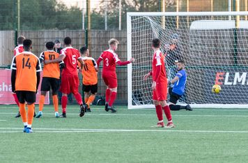 ...and a near-post flick by Dan Bennett levels the scores: 1 - 1 (53 mins)