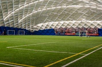 Inside the impressive football dome...
