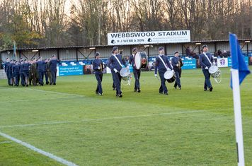 The RAF Cadet's Band entertains...