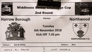 HARROW BOROUGH v Northwood, Tuesday 6th November 2018. Middlesex Senior Cup
