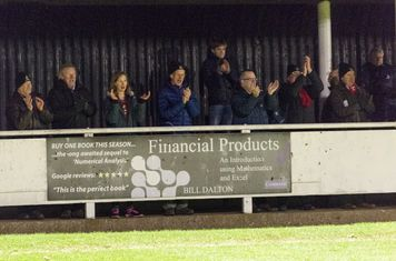 The Borough fans celebrate a spirited fightback against the ten excellent Met Police players