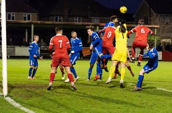 Another goalmouth tussle...