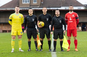 The Officials and Captains Luke Williams and Ryan Moss