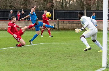 ...and Luke Neville gives Borough fleeting hope with an equalising own goal on 35 mins