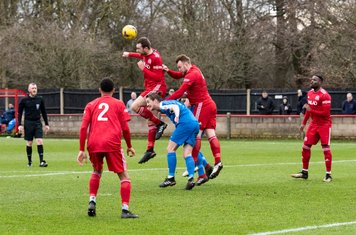 ...but beaconsfield clear the free kick