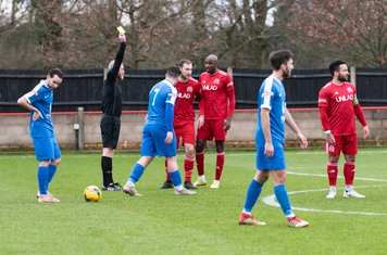 ...and Mr Begley issues a yellow card