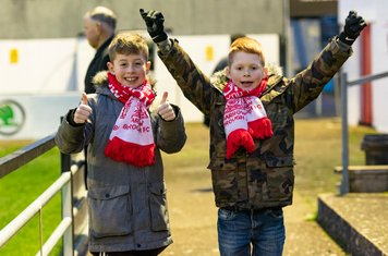 ...but the young Borough supporters remain upbeat