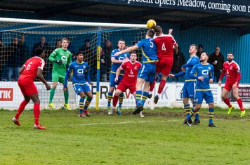 ...and Mitchal Gough gets his head to the ball