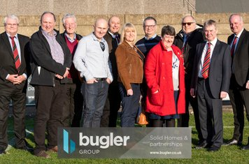 Representatives of the new Borough sponsors, Bugler Group, with Board Members and Local Councillors