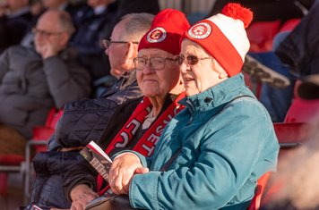 Poole supporters hope for a second half fightback to brighten their afternoon