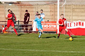 ...and Ryan Haugh clears the loose ball