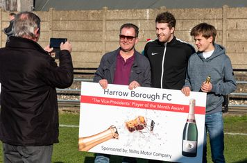 George Fenton receives the Player of the Month Award for January...