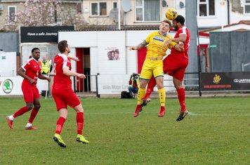 Shaun Preddie heads clear