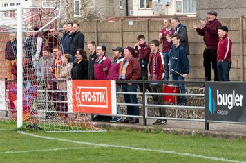 Taunton's travelling drummer and supporters