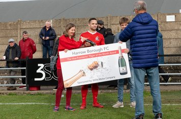 Anthony O'Connor receives the February Player of the Month Award